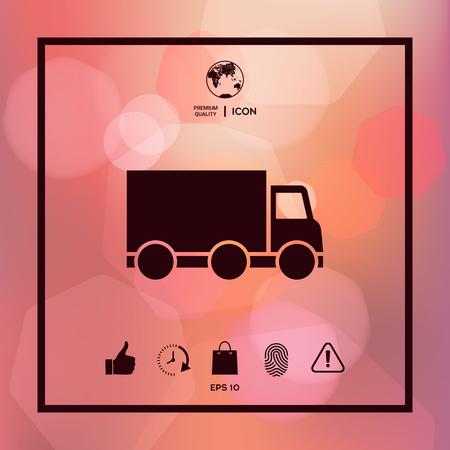 Delivery car icon