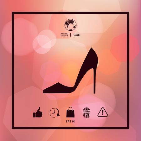 Elegant women shoe icon Illustration