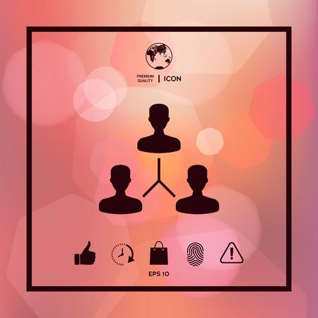 Human connection symbol