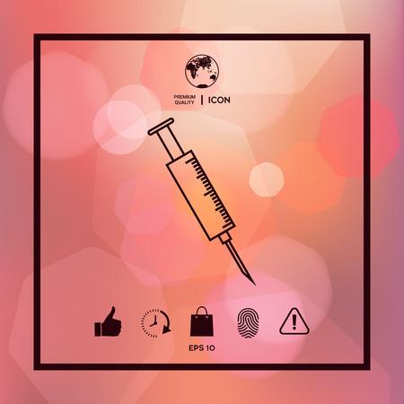 Medical syringe icon 일러스트