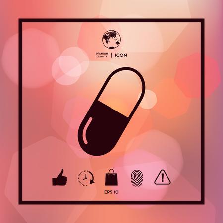 Pill icon symbol