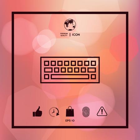 A keyboard icon symbol.