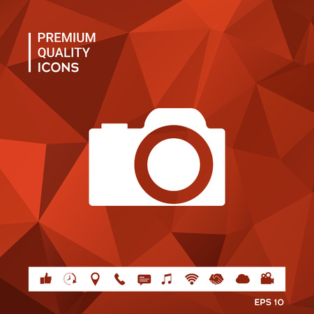 Camera symbol icon
