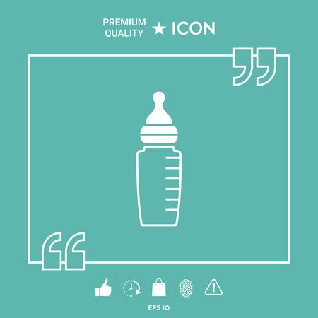 Baby feeding bottle icon Illusztráció