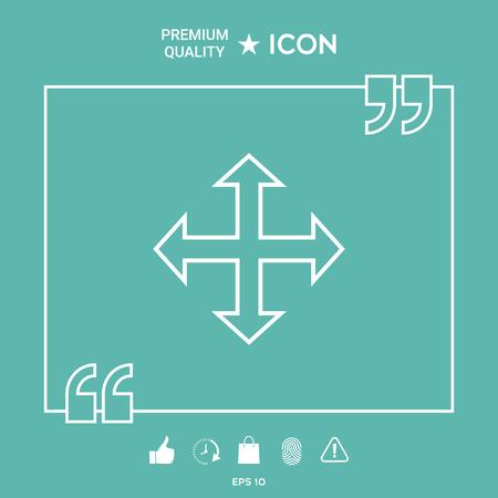Move icon  イラスト・ベクター素材