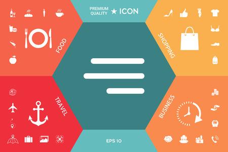 moderne menu hamburger icône pour applications mobiles et sites web