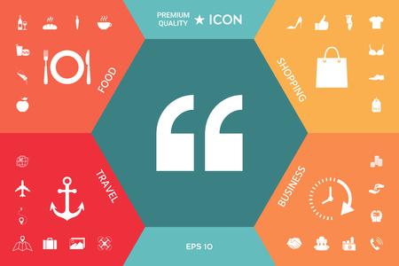 Quote icon 向量圖像