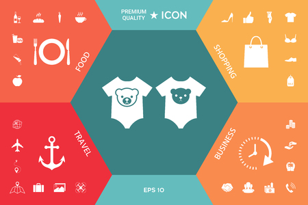 Baby rompers icon. Element for your design