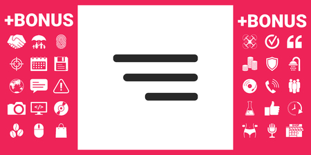 Modern menu icon for mobile apps and websites Vector illustration.