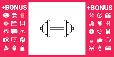 Barbell line icon Vector illustration.