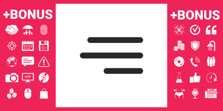 Modern hamburger menu icon for mobile apps and websites Vector illustration.