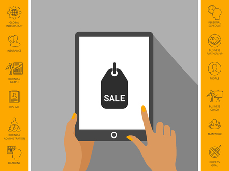 Sale tag symbol. Ilustração