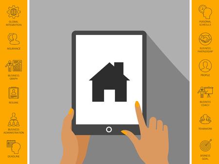 Home icon symbol.