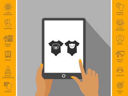 Two baby shirt icon.