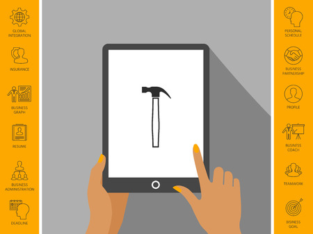 Hammer icon symbol Stock Photo