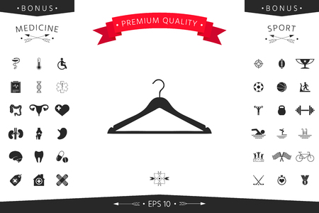 Clothes Hanger icon isolated design on white Illustration