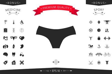 Women panties, the silhouette. Menu item in the web design Stock fotó - 99985142