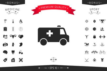 Ambulance symbol icon. 向量圖像