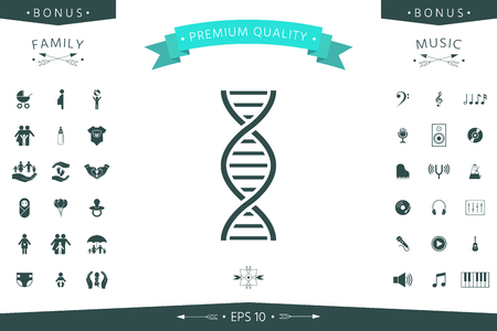 DNA symbol icon. Element for your design
