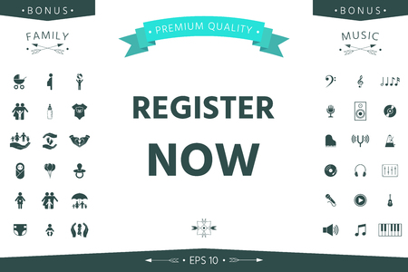 Register now button Ilustração