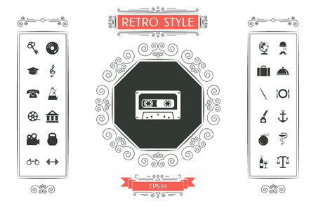 Audio Cassette icon Vector illustration.
