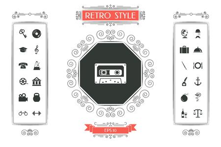 Audio Cassette icon Vector illustration. Imagens - 99969834