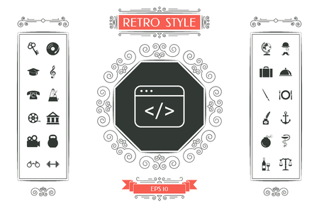 Code editor icon vector illustration design.
