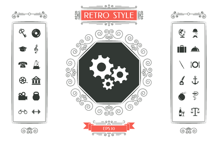 Gears wheel - Settings icon vector illustration design.