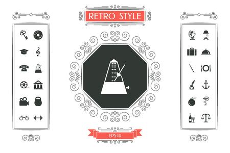 Metronome icon symbol vector illustration design. Illustration
