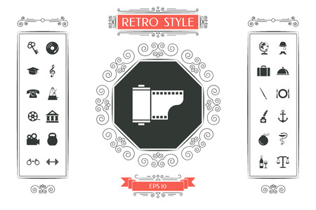 Photographic film cassette icon