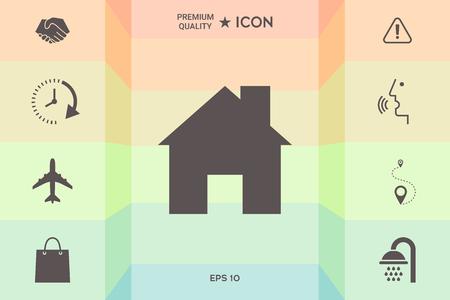 Home icon symbol vector illustration design.