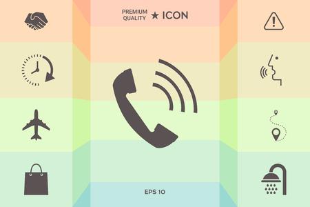 Telephone handset, telephone receiver icon