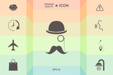 Abstract hipster silhouette Illustration