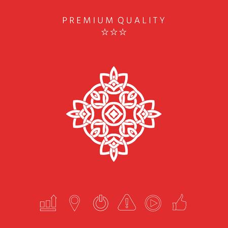 Logo. Geometric oriental arabic pattern. Element for your design