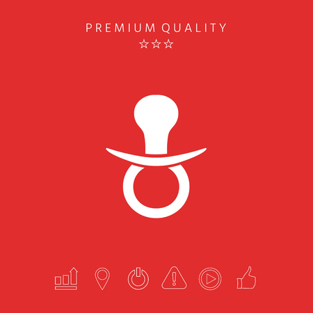 Baby pacifier icon. Element for your design