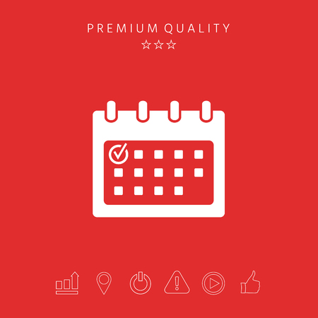 Calendar icon with check mark. Element for your design