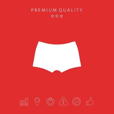 Men underwear, the silhouette. Menu item in the web design