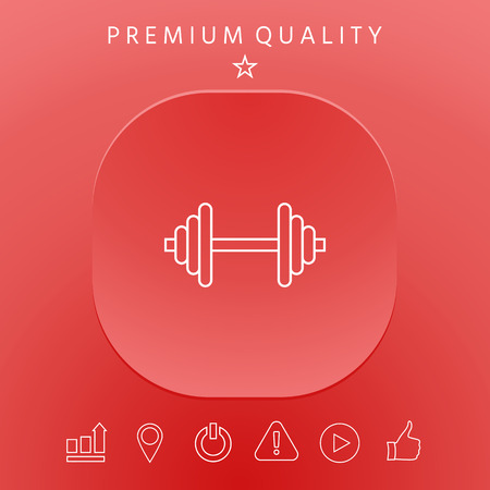 Barbell line icon. Element for your design