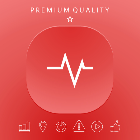 ECG wave - cardiogram symbol. Medical icon. Element for your design Illustration