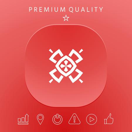 Geometric oriental pattern. Logo. Element for your design 矢量图像