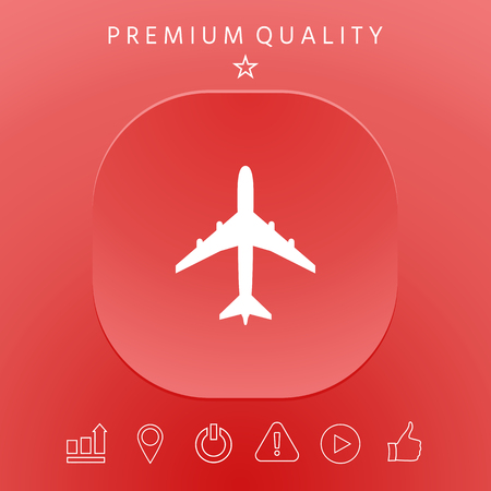 Airplane icon symbol . Element for your design.