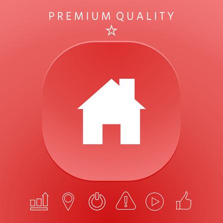 Home icon symbol Vector illustration.