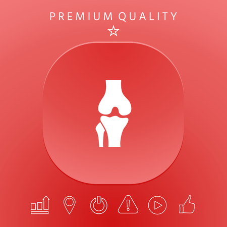 Knee joint icon Vector illustration. Vettoriali
