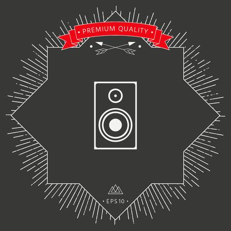 Audio speaker icon Vector illustration. Illustration