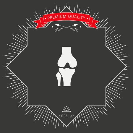 Knee joint icon Vector illustration. Illustration