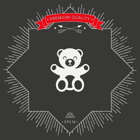 Teddy bear icon Vector illustration. Vectores