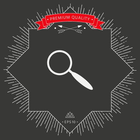Search icon symbol Illustration