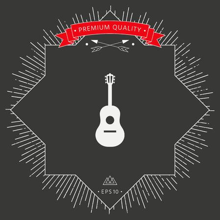 Guitar icon symbol Vectores