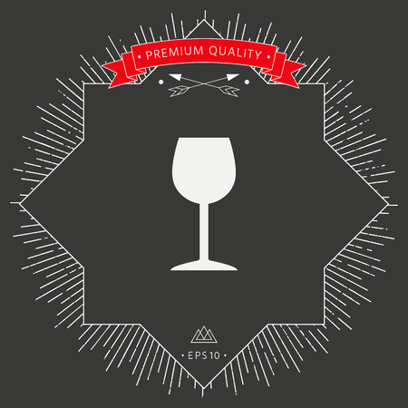 Wineglass icon symbol Stock Illustratie