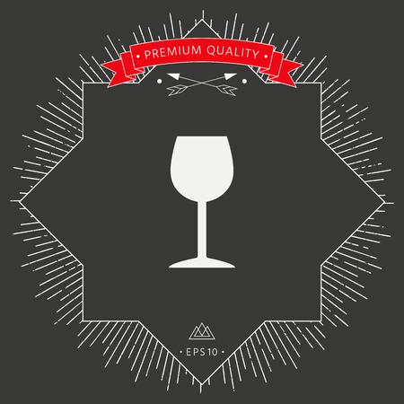 Wineglass icon symbol Illustration